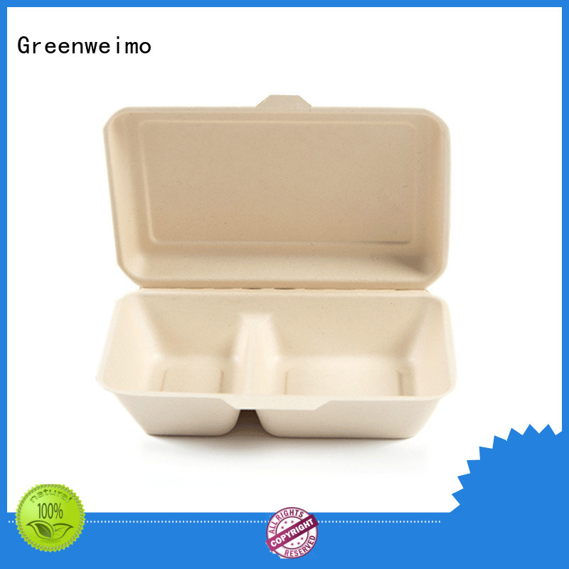 Greenweimo foldable round clamshell packaging for business for package
