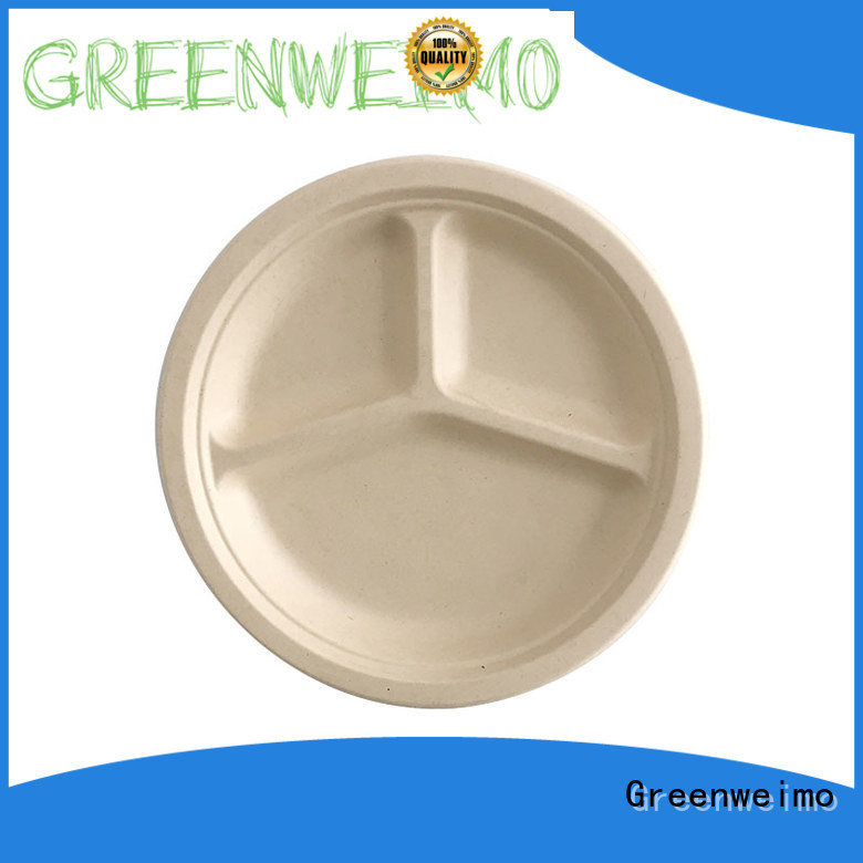 Greenweimo bagasse plate on sale for party