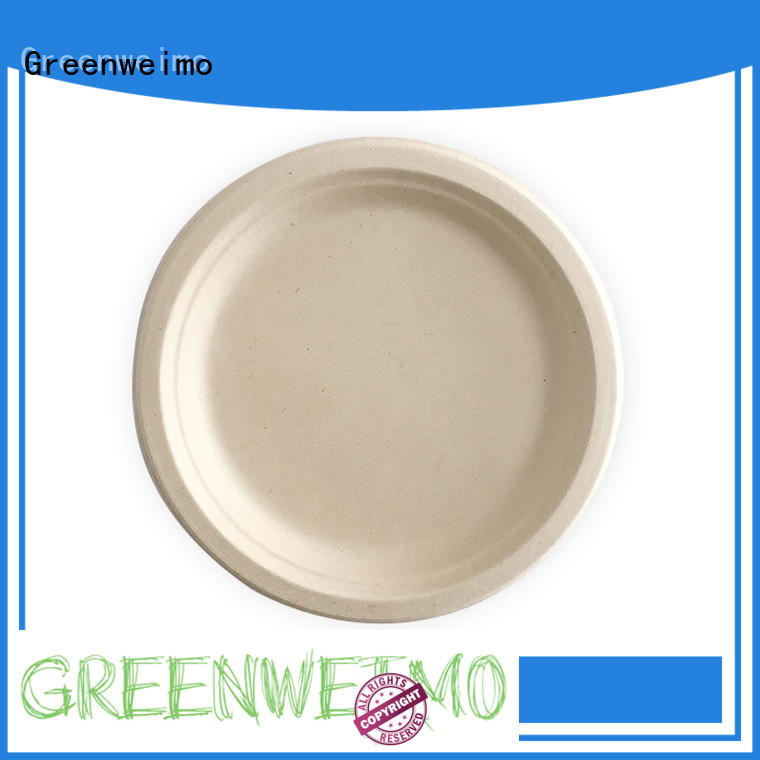 round biodegradable plate compartment for activity