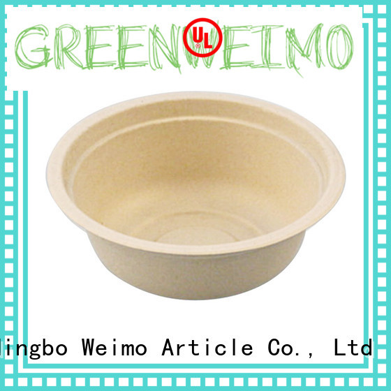 Greenweimo disposable compostable bowls on sale for meal
