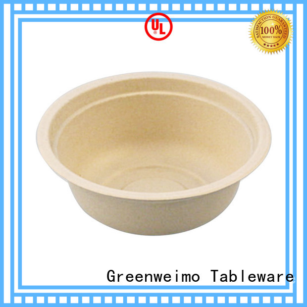 bowl biodegradable bowls with lids fiber for meal Greenweimo