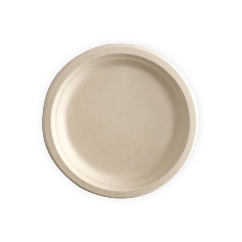 Compostable  Round Bagasse Plate