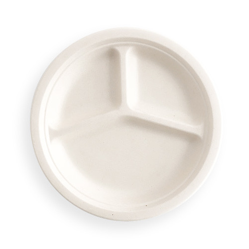 Bagasse Product Of Three Compartment Plate