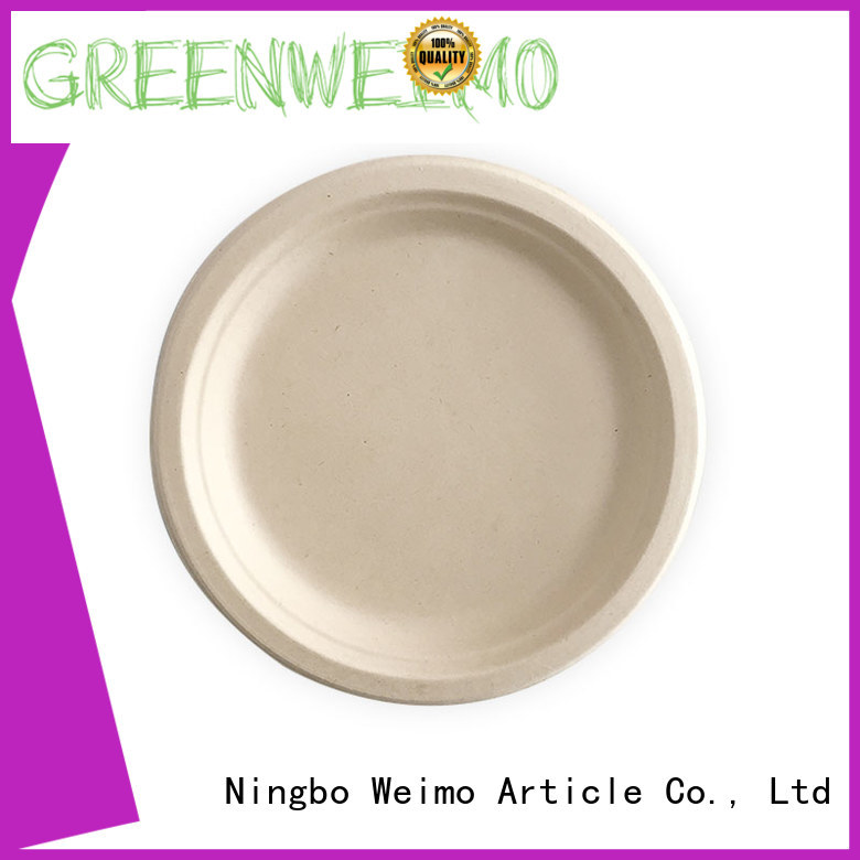 Greenweimo High-quality wholesale paper plates Supply for hot food