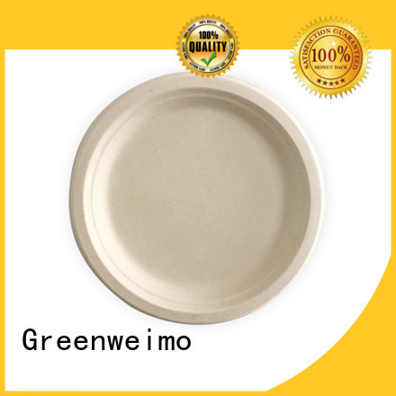 Greenweimo compostable bagasse plate meet different market for party