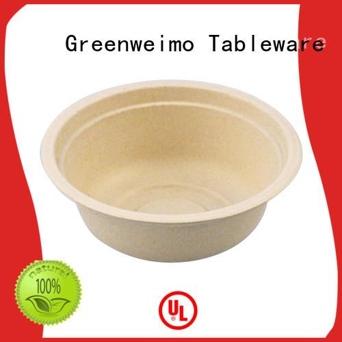 Greenweimo safe biodegradable bowl fiber for food