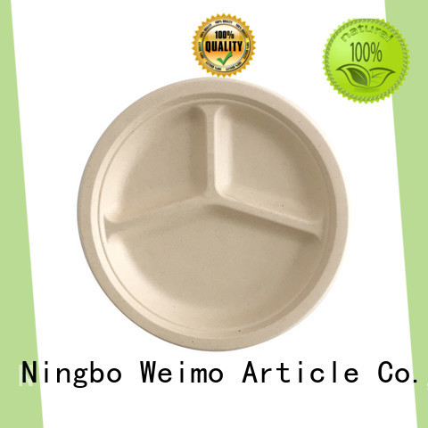 Greenweimo safe biodegradable plate on sale for hotel