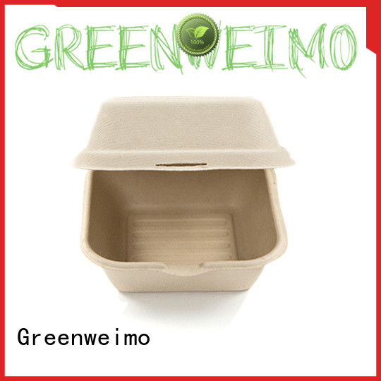 Greenweimo foldable clamshell food boxes factory for delivering