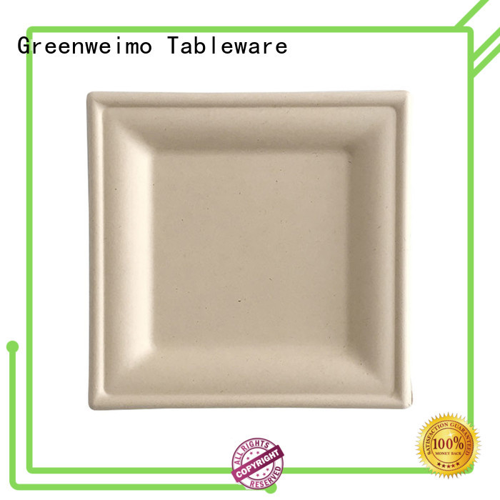 Greenweimo safe biodegradable plate meet different market for hotel