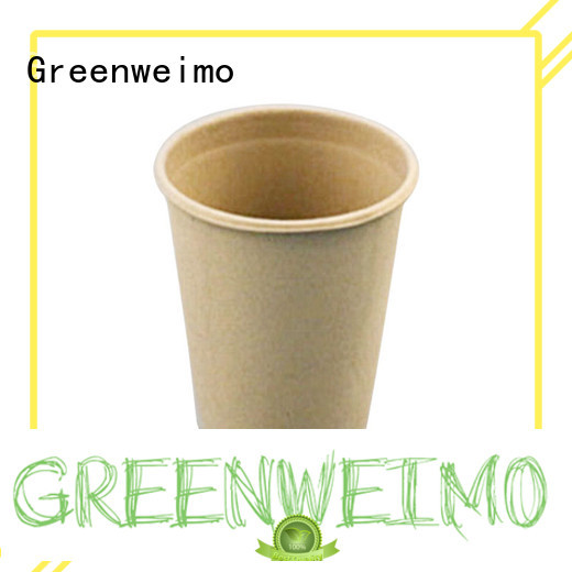 Greenweimo disposable recyclable cups hinged for water