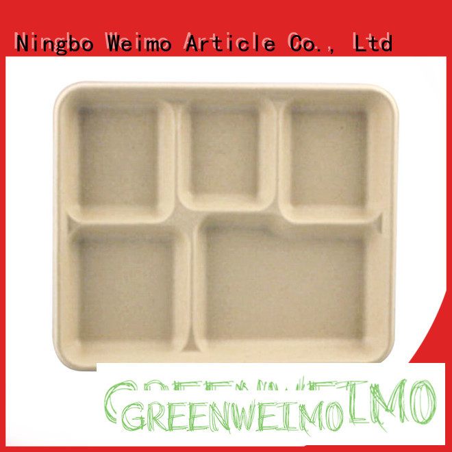 Top green tray sugarcane Supply for hot food