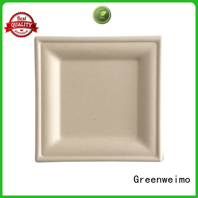 round biodegradable plate compartment for hotel