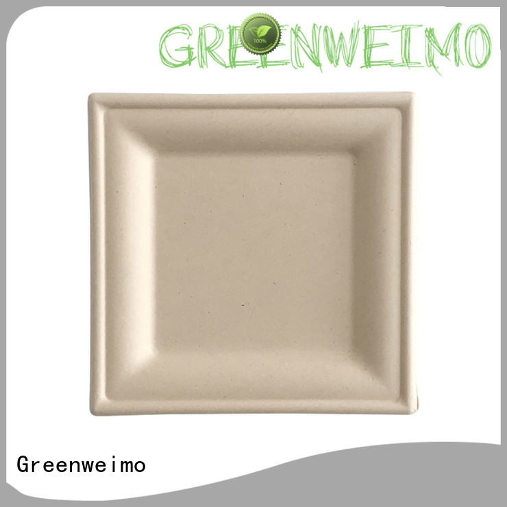 Greenweimo biodegradable plate compartment for party