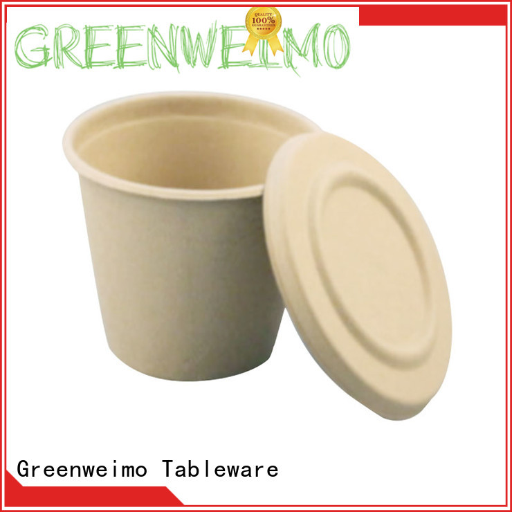 Greenweimo hinged biodegradable plates for business for party