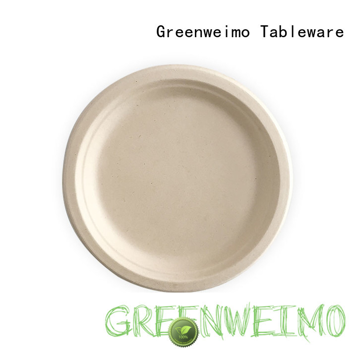 Greenweimo material sustainable plates for business for oily food