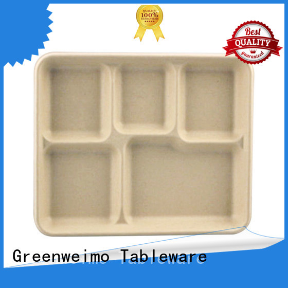 online biodegradable tray wheat for hot food Greenweimo