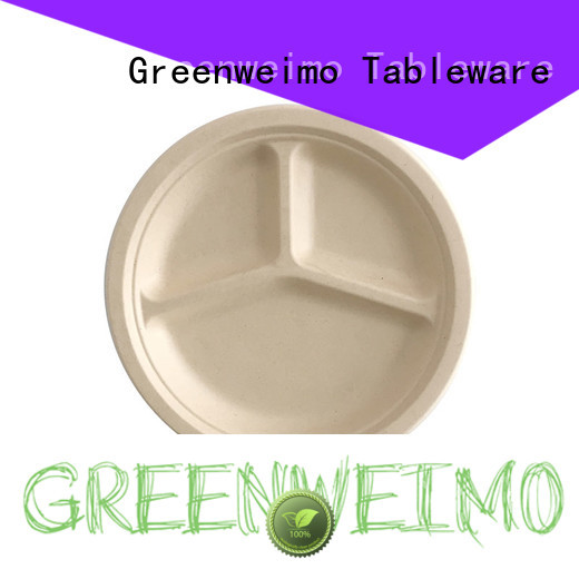 Greenweimo round eco friendly plates and cups Supply for wet food