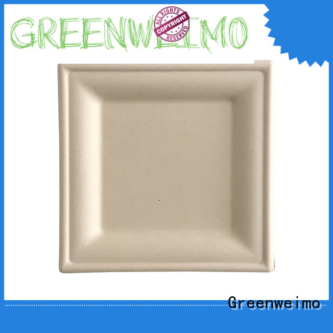 Greenweimo biodegradable plate meet different market for activity