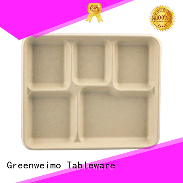 Greenweimo sugarcane eco friendly dinnerware Supply for party