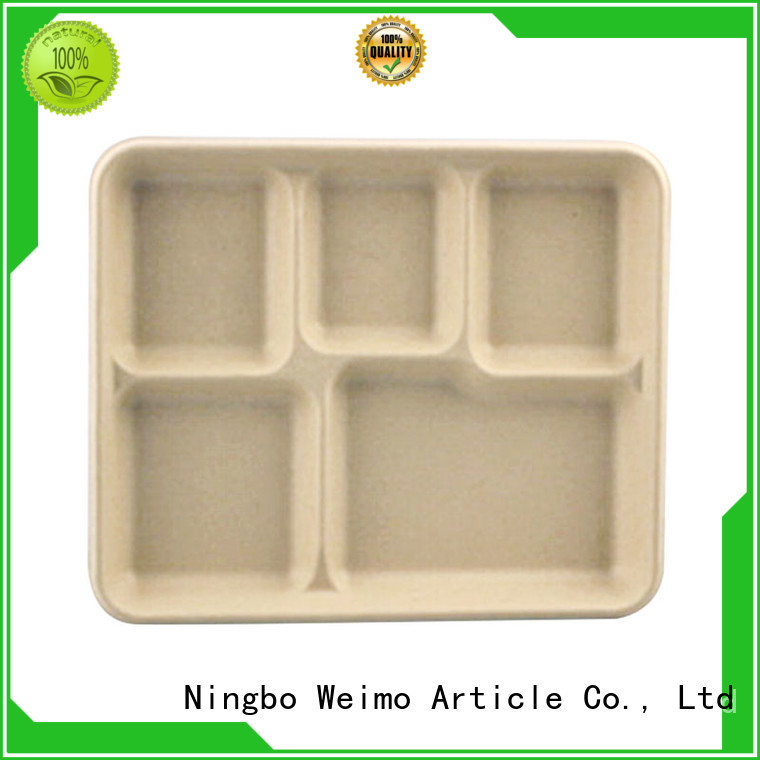 online biodegradable 5 compartment trays available for hot food Greenweimo
