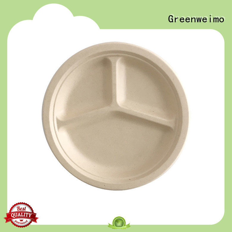 Greenweimo disposable bagasse plate meet different market for party