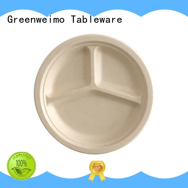 safe compostable plates compartment for hotel