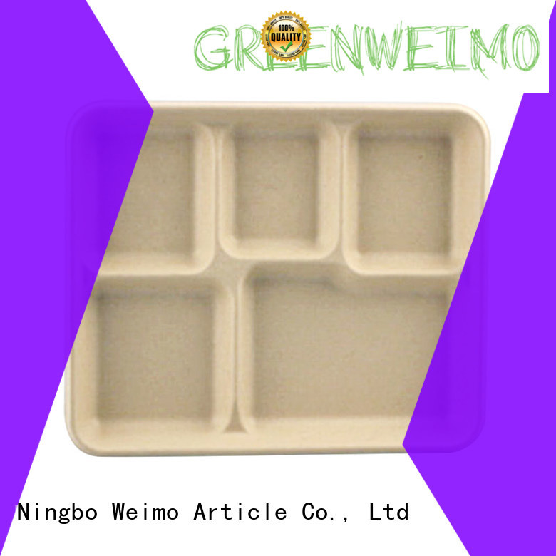 Greenweimo bagasse biodegradable food packaging manufacturers for oily food