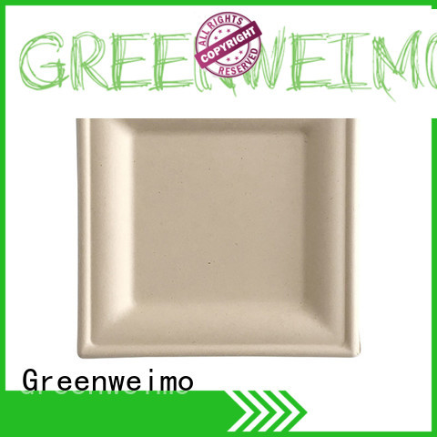 Greenweimo bagasse plate on sale for activity