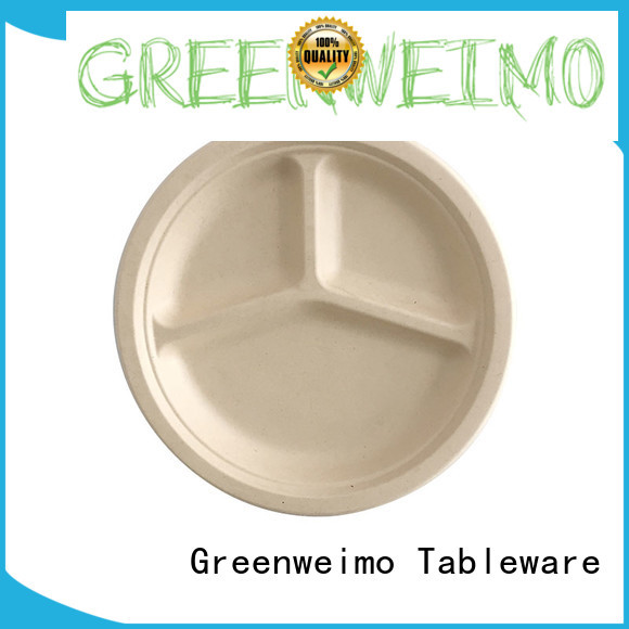 round compostable plates compartment for hotel