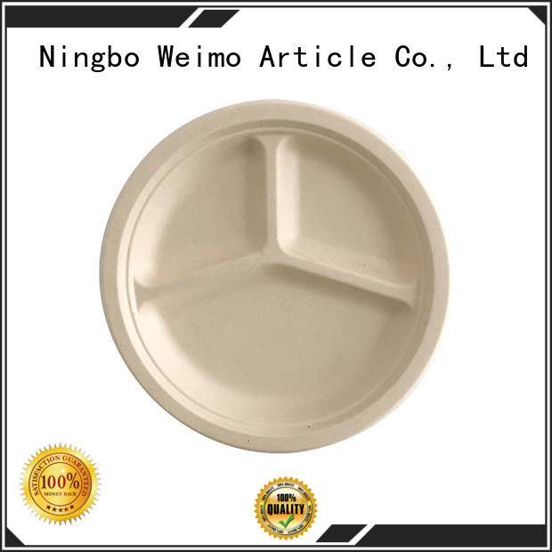 Custom biodegradable party plates plate for business for hot food