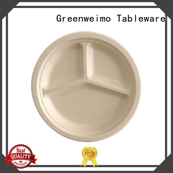Greenweimo round recyclable plates food for activity