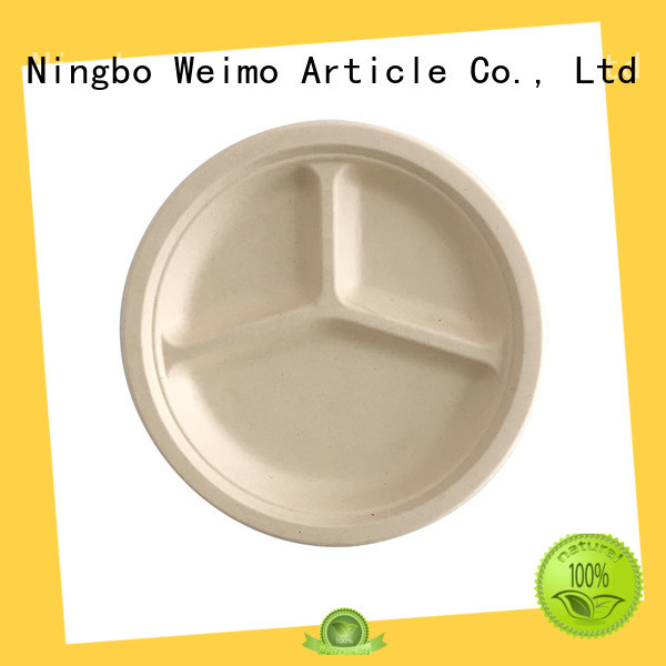 Greenweimo safe eco disposable plates compartment for party