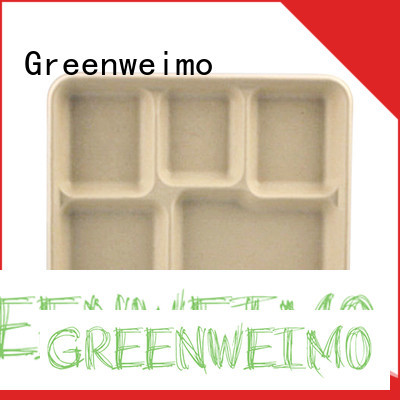 Greenweimo divided recycled paper food trays Supply for hot food