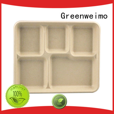 Greenweimo white meal tray Supply for hot food