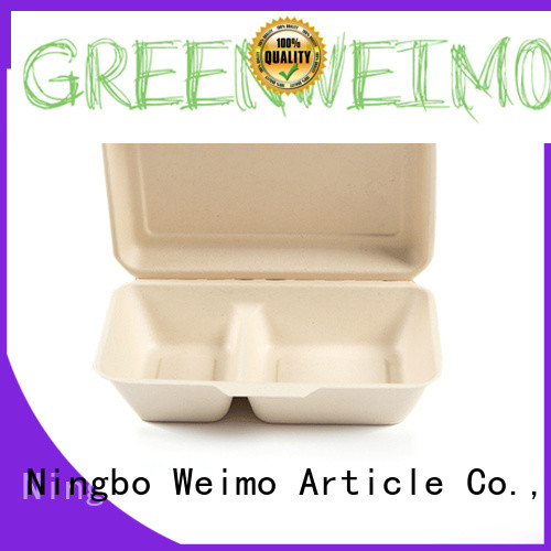 Greenweimo takeout biodegradable plates Suppliers for food