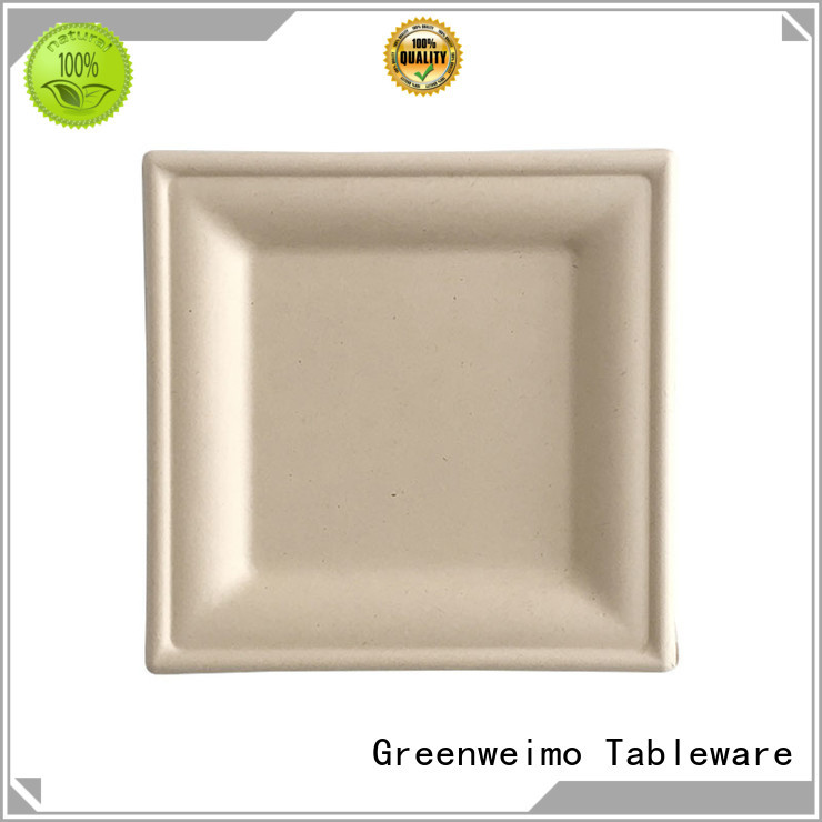 Greenweimo safe biodegradable dishes compartment for hotel