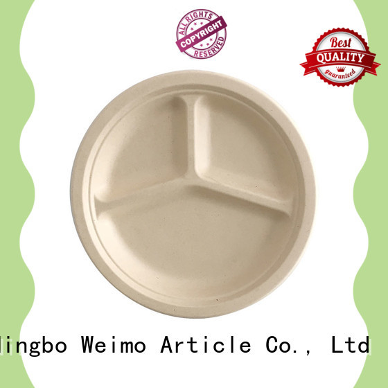 Custom sugarcane disposable plates material company for oily food