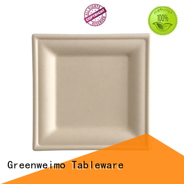 Greenweimo biodegradable eco friendly plates and cups for business for party