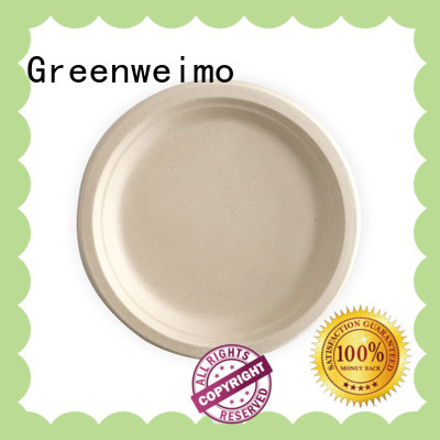Greenweimo Top bio disposable plates Suppliers for hot food