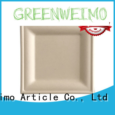 High-quality eco friendly paper plates and cups compartment for business for hot food