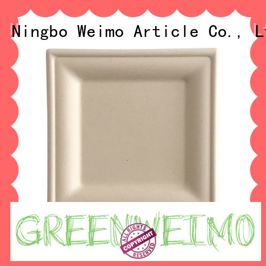 Greenweimo compostable plates on sale for hotel