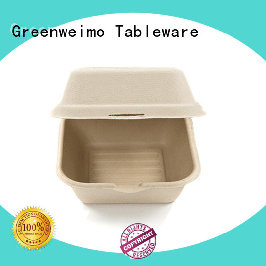 Greenweimo clamshell biodegradable food packaging suppliers Supply for delivering