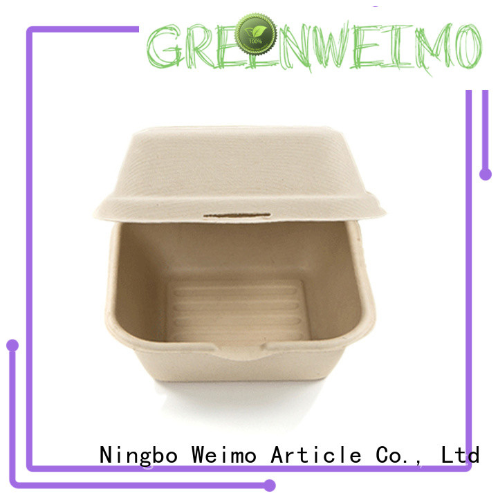 Greenweimo Wholesale biodegradable bowls with lids Supply for package