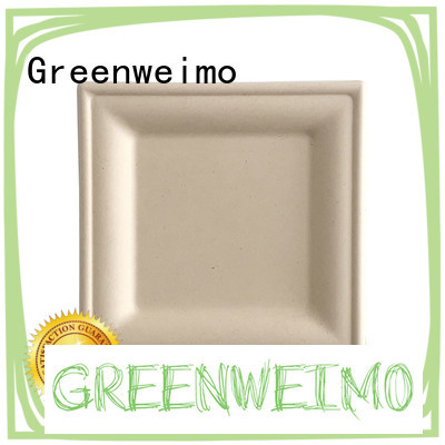 Greenweimo sugarcane eco party plates Suppliers for hot food