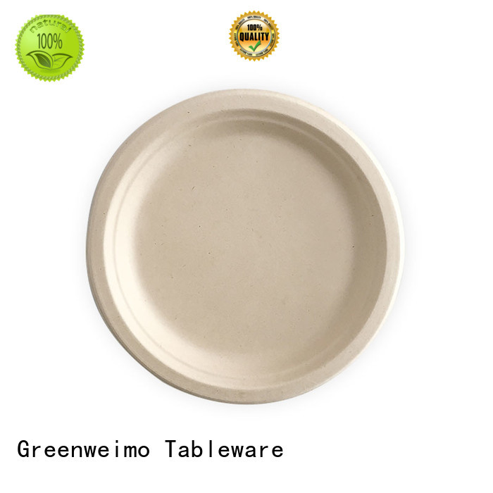 Greenweimo ellipse recycled paper plates factory for oily food