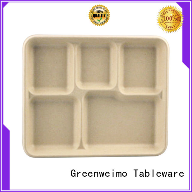 Custom green paper tray inch for business for wet food