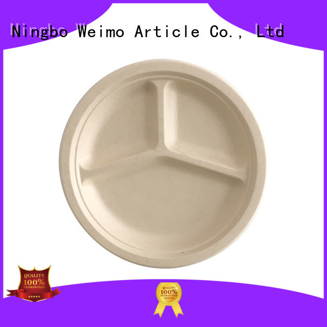Greenweimo disposable eco friendly paper plates manufacturers for business for oily food