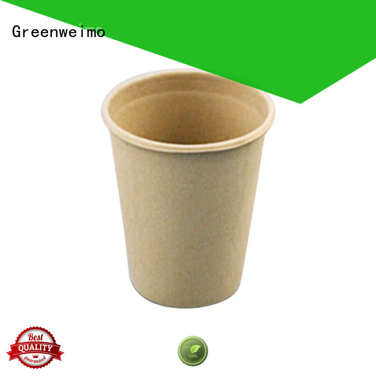 Greenweimo biodegradable compostable paper cups for business for water
