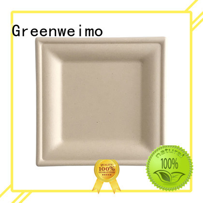 Greenweimo round bagasse plate compartment for activity
