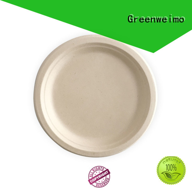 Greenweimo bagasse disposable plates wholesale company for hot food